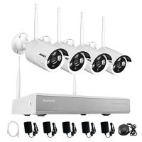 Annke 4CH 960P Wireless Security Camera System and (4) 1.3MP CCTV Cameras with Super Night Vision