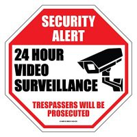 Industrial Grade Security Camera Sign 11 inch by 11 inch