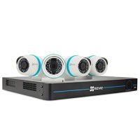 EZVIZ Smart Home 1080p PoE Video Security Surveillance System NVR Kit + 4 x Weatherproof HD IP Cameras + 8 x Channel NVR 2TB HDD, 100ft Night Vision, Works with Alexa using IFTTT